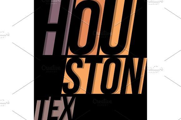 Houston T-shirt Tee Design Typography Print Graphics