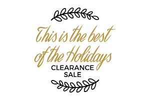 Best of Holidays. Clearance Sale Winter Discount
