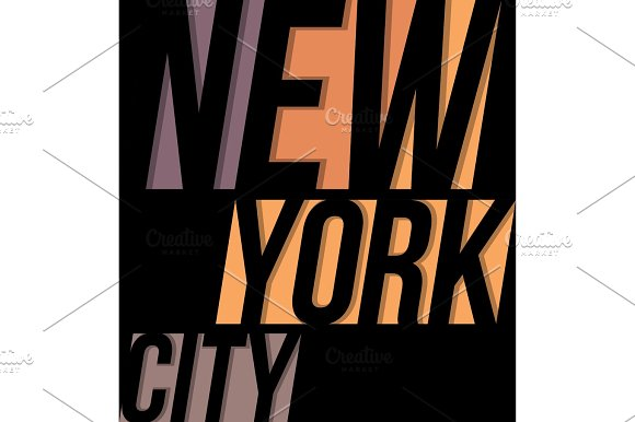 New York City T-shirt Tee Design Typography Print Graphics