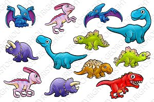 Dinosaur Cute Cartoon Characters