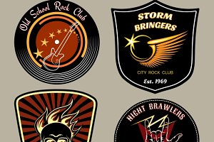 Rock badges