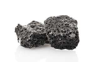 Lumps of candy coal isolated