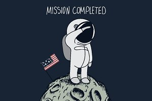USA astronaut on Moon