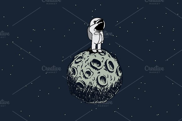 Spaceman On The Moon