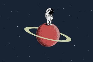 spaceman on Saturn