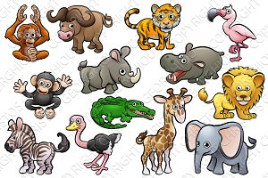 Safar Animal Cute Cartoon Characters