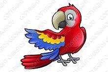 Parrot Bird Cartoon Character