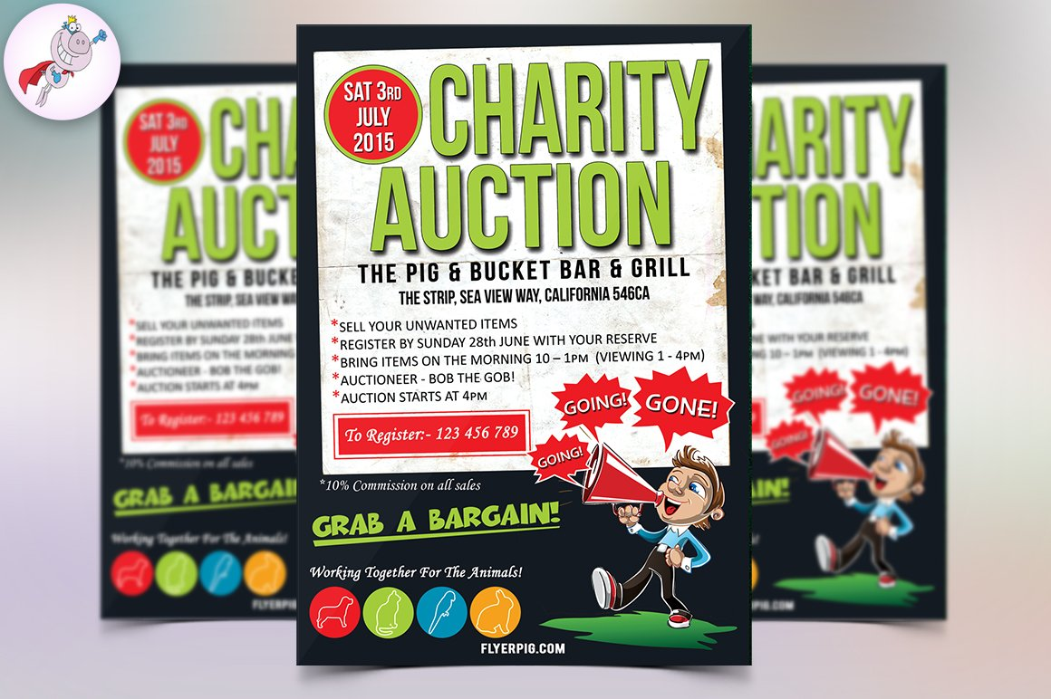 auction brochure template - charity auction flyer template flyer templates