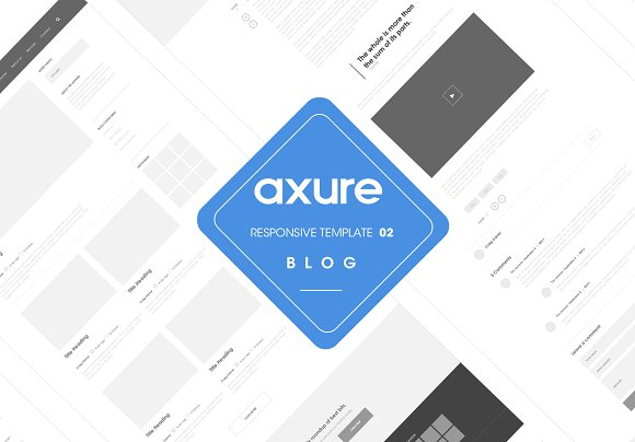 Axure Responsive Blog Template 2
