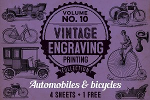 Old automobiles & bicycles + BONUS