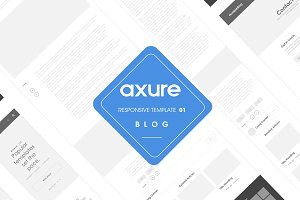 Axure responsive template Blog 01