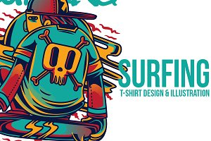 Surfing Illustration