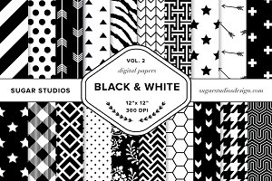 Black & White Digital Backgrounds V2