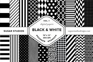 Black & White Digital Backgrounds V1
