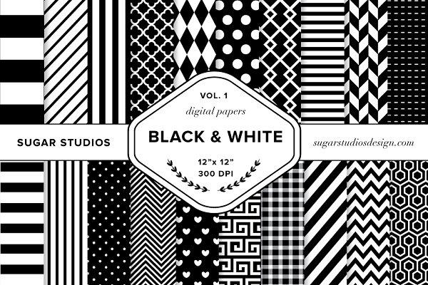 Black & White Digital Backgrounds V…