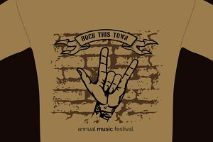 music tee shirt template