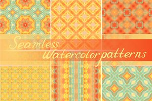 Set: 20 seamless watercolor patterns