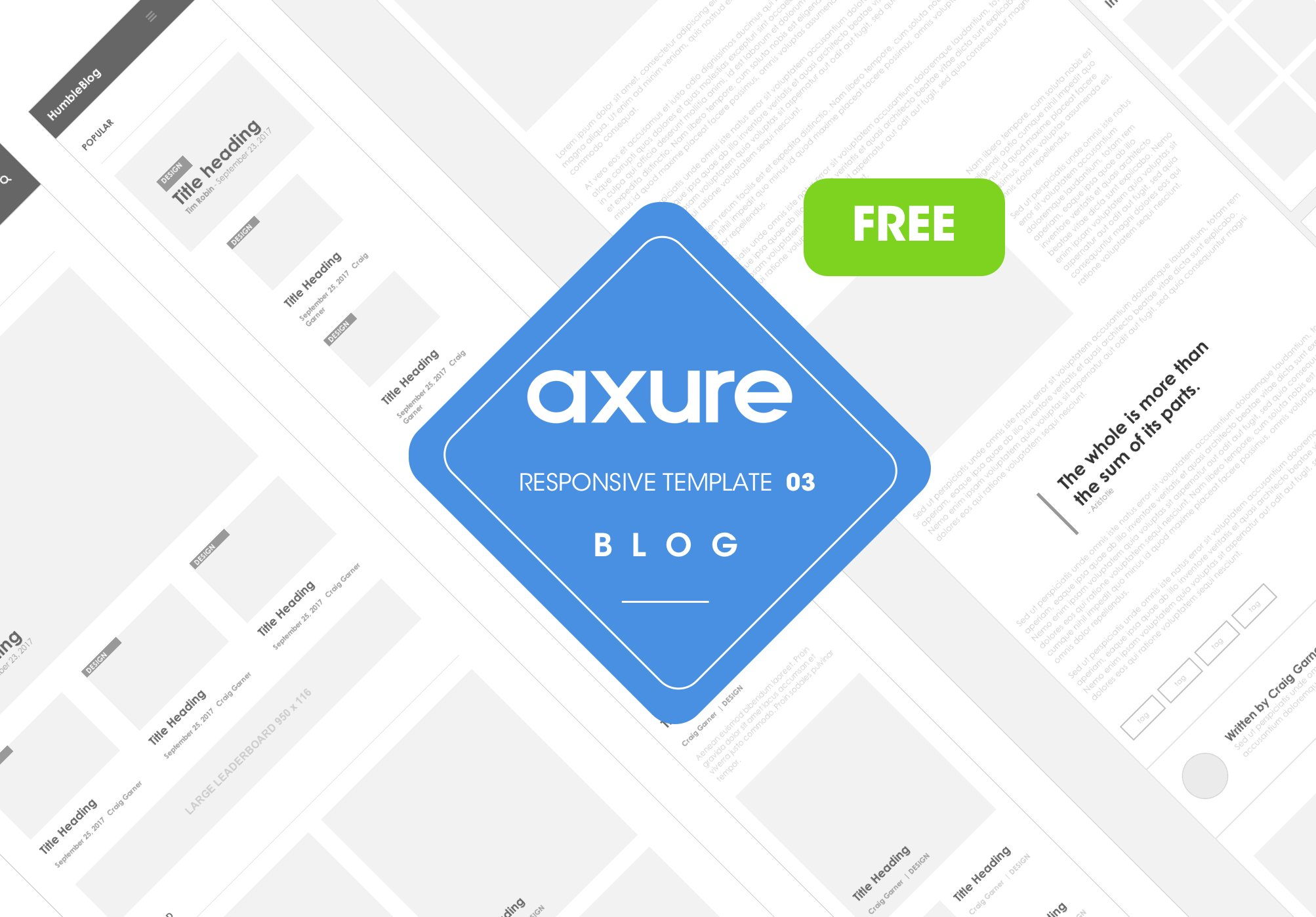 Axure responsive template blog free website templates for Orbus templates