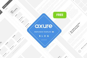 Axure Responsive template Blog-FREE