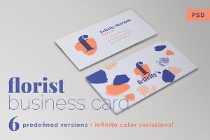6+ Florist Business Card Templates