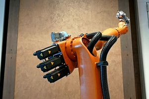 Industrial robot arm for welding and assembling