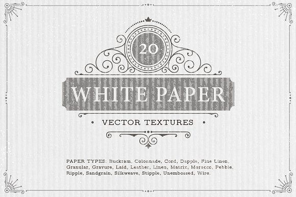 20 White Paper Vector Textures