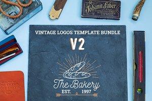 Vintage Logos Template Bundle V2