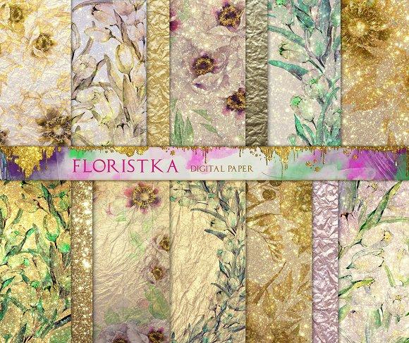 Shimmering Floral Patterns Big Set