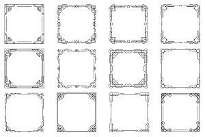 Thin line geometric frames