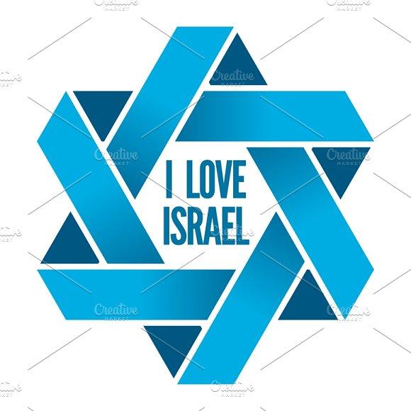 Judaism Logo With Magen David Sign