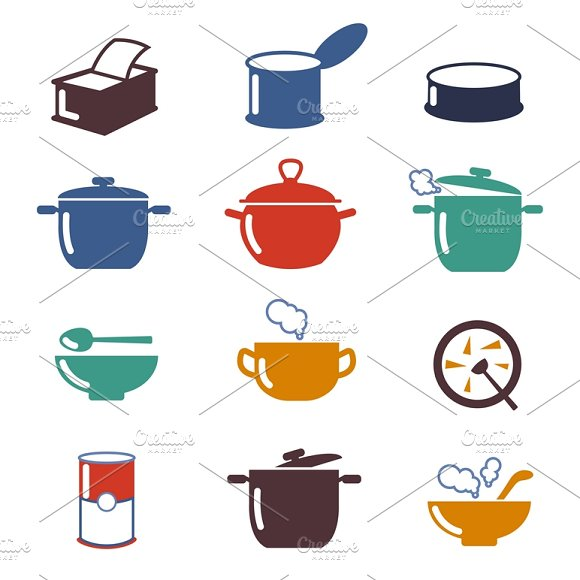Color Soup Vector Icons