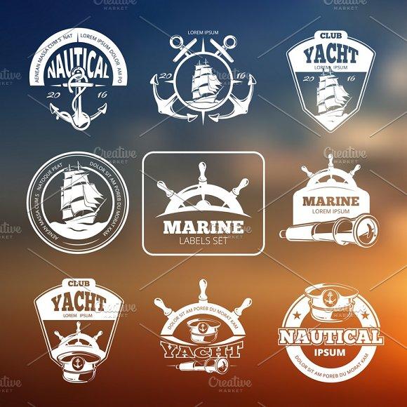 Marine Nautical Vector Labels