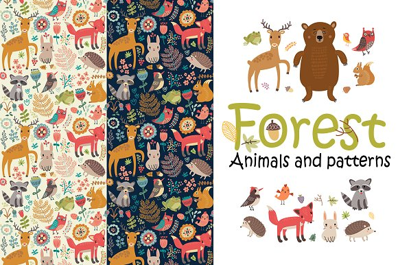 Forest Animals And Patterns