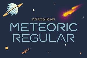 Meteoric Regular Font