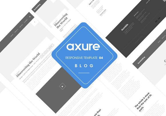Axure Responsive Template Blog 4