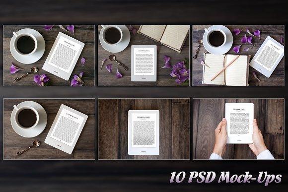 E-Book Reader 10 PSD Mock-Ups BUNDLE