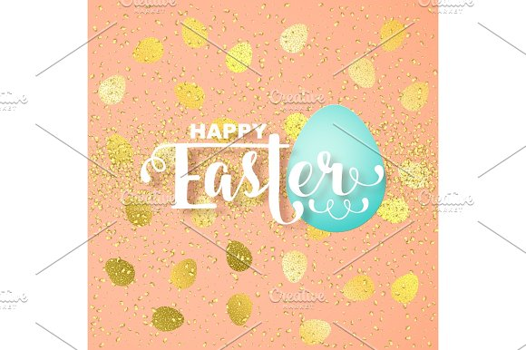 Easter Card With Calligraphic Greeting