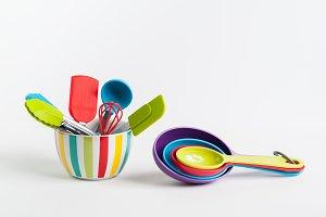 Colorful Kitchen Utensils