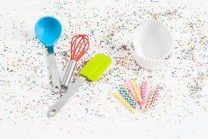 Colorful Cupcake Baking Supplies