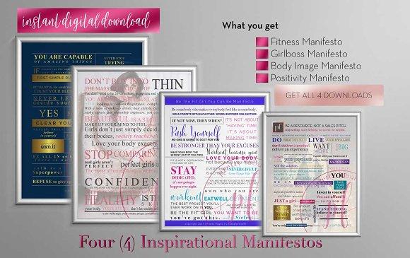 manifesto indesign template stationery templates creative market