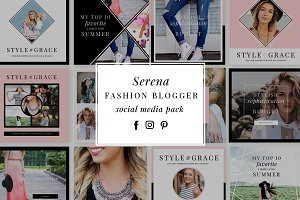 SERENA | Fashion Social Media Pack