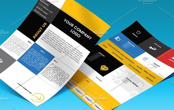 Company Profile A4 Plu Ai File Flyer Templates Creative Market