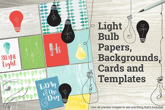 Light Bulb Papers And Templates
