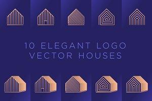 10 Elegant Logo Vector Houses