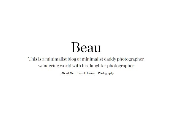 Beau Personal Blogging HTML Template