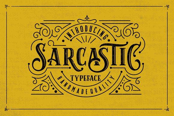 Sarcastic Typeface Extras