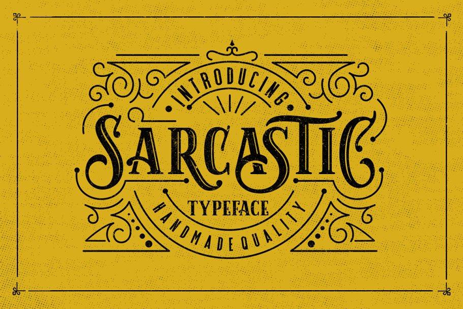 Sarcastic Typeface + Extras