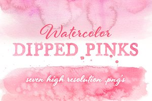 Watercolor Dipped Pink Collection