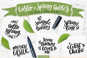 Easter & Spring quotes SVG bundle