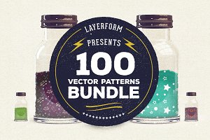 100 Vector Patterns Bundle